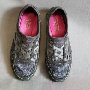 Skechers fit plus Shoes Gray Size 8.5 Leather